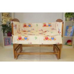 Набор для кроватки новорождённого Монис стиль 4 предмета