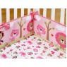 Комплект для детской кроватки 7 предметов Giovanni Pink ZOO (серия Shapito)