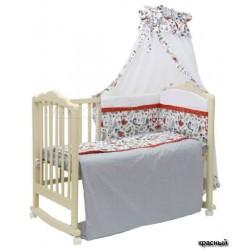 Комплект в кроватку Polini Кантри 7 предметов 120х60см