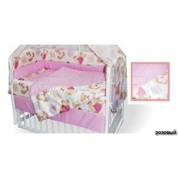 Комплект в кроватку Крошкин дом Лапушка Тэдди 6 предметов 120х60см