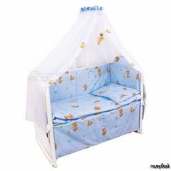 Комплект в кроватку для новорожденного Крошкин дом Тики Там, 7 предметов