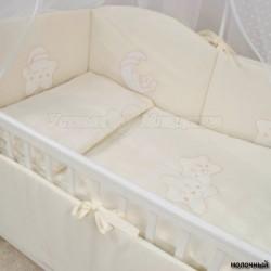 Комплект в кроватку Крошкин дом Спать пора 6 предметов 120х60см