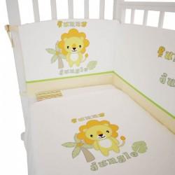 Комплект постельного белья Polini Джунгли 120х60см