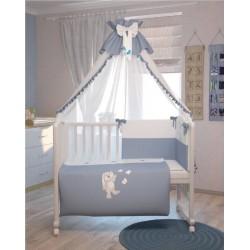 Комплект в детскую кроватку Polini Зайки 7 предметов 120х60см