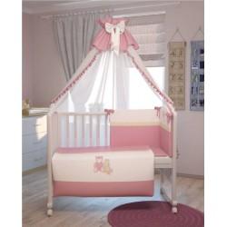 Комплект в детскую кроватку Polini Плюшевые мишки 7 предметов 120х60см