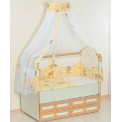 Комплект в кроватку 7 предметов Селена 25.4 бязь