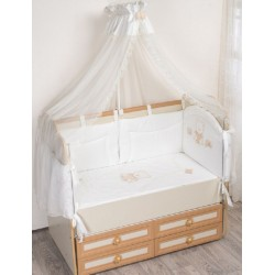 Комплект в кроватку Селена 95 из 7 предметов бязь, сатин