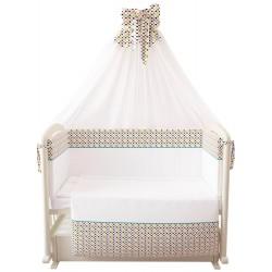 Комплект в кроватку Polini Конфетти 7 предметов