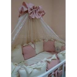 Балдахин для детской кроватки Versento сатин