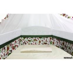 Бампер Polini Кантри в кроватку 120х60см со съемным чехлом