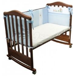 Бампер в детскую кроватку Сонный гномик Паровозик