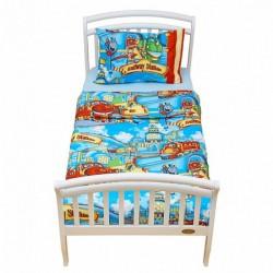 Комплект постельного белья для дошкольника из двух предметовGiovanniTrain(серияShapito)