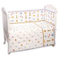 Комплект в кроватку Сонный гномик Маяк 6 предметов бязь