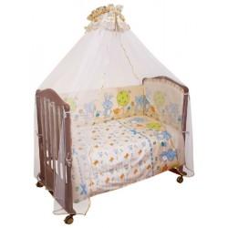 Комплект в кроватку Сонный гномик Акварель 6 предметов бязь