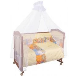 Комплект в кроватку Сонный гномик Лежебоки 6 предметов бязь