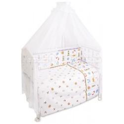Комплект в кроватку Сонный гномик Маяк 7 предметов бязь