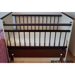 Детская кроватка для новорожденного Бэби Бум Вероника продольный маятник + ящик