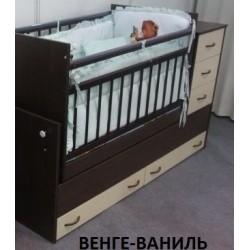 Детская кровать – трансформер – маятник  Бэби Бум Варвара