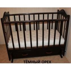 Детская кроватка для новорожденного Ведрусс Кира-4 поперечный маятник + закрытый ящик