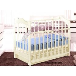 Детская кроватка для новорожденного Ведрусс Лана-3 поперечный маятник + закрытый ящик
