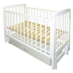 Кроватка для новорожденного Соня-05 продольный маятник + закрытый ящик