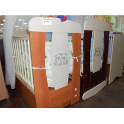 Детская кроватка для новорожденного Алмаз мебель Венеция поперечный маятник + закрытый ящик