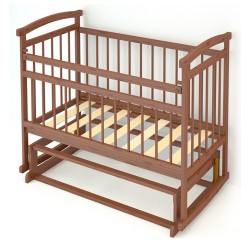Детская кроватка для новорожденного Бэби Бум Алёнка-2  поперечный маятник + качалка