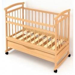 Детская кроватка для новорожденного Бэби Бум Алёнка-1 колёса + качалка + ящик