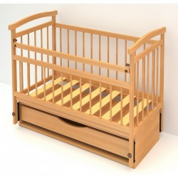 Детская кроватка для новорожденного Бэби Бум Алёнка-4  продольный  маятник + закрытый ящик