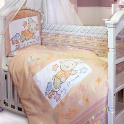 Комплект в кроватку 140*70 Золотой гусь Zoo Bear 8 предметов