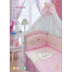 Комплект в кроватку Золотой гусь Лапушки 9 предметов