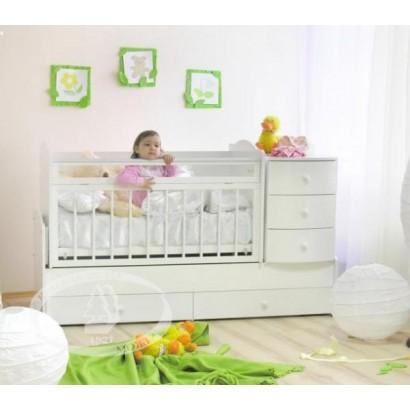 Детская кровать трансформер маятник Можга Кирюша С-859 Красная звезда