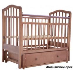 Детская кроватка для новорожденного Лаура-2  продольный маятник + закрытый ящик