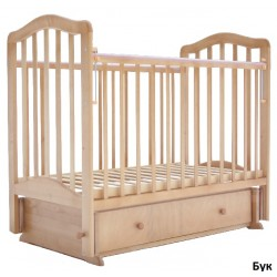 Детская кроватка для новорожденного Лаура-5  поперечный маятник + закрытый ящик
