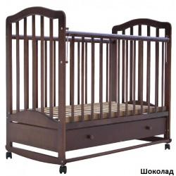 Детская кроватка для новорожденного Лаура-6 колёса + качалка + ящик