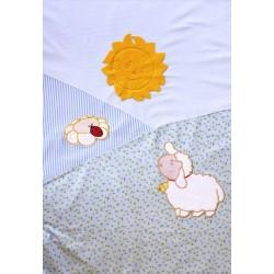Комплект постельного белья Золотой гусь Весёлые овечки 3 предмета