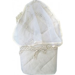 Конверт-одеяло с вуалью Little People лён