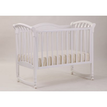Кроватка для новорожденного Лель - Кубаньлесстрой Азалия БИ 10.0 качалка + колёса