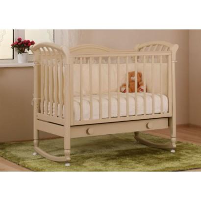 Кроватка для новорожденного Лель - Кубаньлесстрой Азалия БИ 10.1 качалка + колёса + ящик