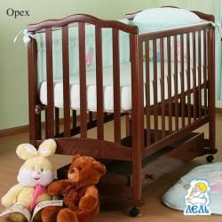 Кроватка для новорожденного Лель - Кубаньлесстрой Жасмин АБ 19.1 качалка + колёса + ящик
