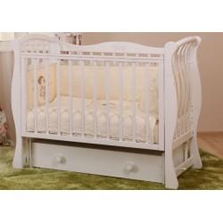 Кроватка для новорожденного Лель - Кубаньлесстрой Ландыш БИ 07.2 поперечный маятник + закрытый ящик
