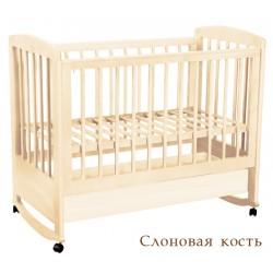 Кроватка для новорожденного Лель - Кубаньлесстрой Ромашка АБ 16.0 колёса + качалка