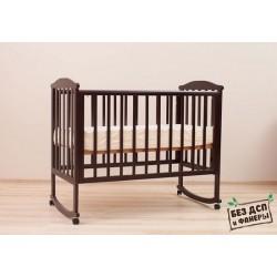 Кроватка для новорожденного Лель - Кубаньлесстрой Лютик АБ 15.0 качалка + колёса