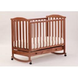 Кроватка для новорожденного Лель - Кубаньлесстрой Лютик АБ 15.1 качалка + колёса +ящик