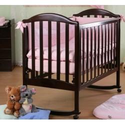 Кроватка для новорожденного Лель - Кубаньлесстрой Лилия АБ 17.0 качалка + колёса