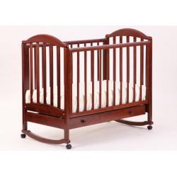 Кроватка для новорожденного Лель - Кубаньлесстрой Лилия АБ 17.1 качалка + колёса + ящик