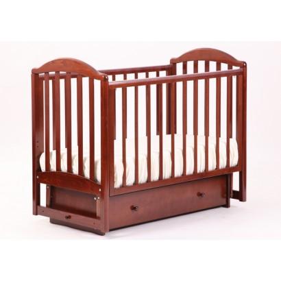 Кроватка для новорожденного Лель - Кубаньлесстрой Лилия АБ 17.2 поперечный маятник + закрытый ящик