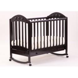 Кроватка для новорожденного Лель - Кубаньлесстрой Орхидея АБ 24.1 качалка + колёса + ящик