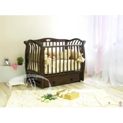 Кроватка для новорожденного Можга Аэлита С-888 Красная звезда поперечный маятник + закрытый ящик