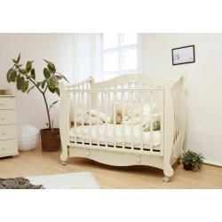 Детская кроватка для новорожденного Можга Валерия С-749 Красная звезда на колёсиках + ящик